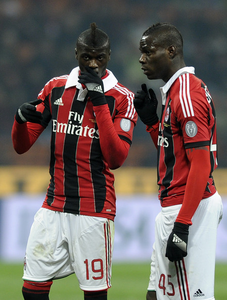 M'Baye Niang (left) and Mario Balotelli (right). © Claudio Villa / Getty Images Europe