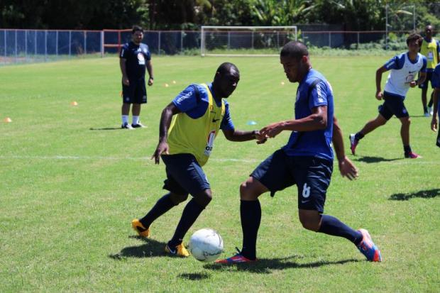 Freddy Adu practicing with Bahia. (Source: Esporte Clube Bahia)
