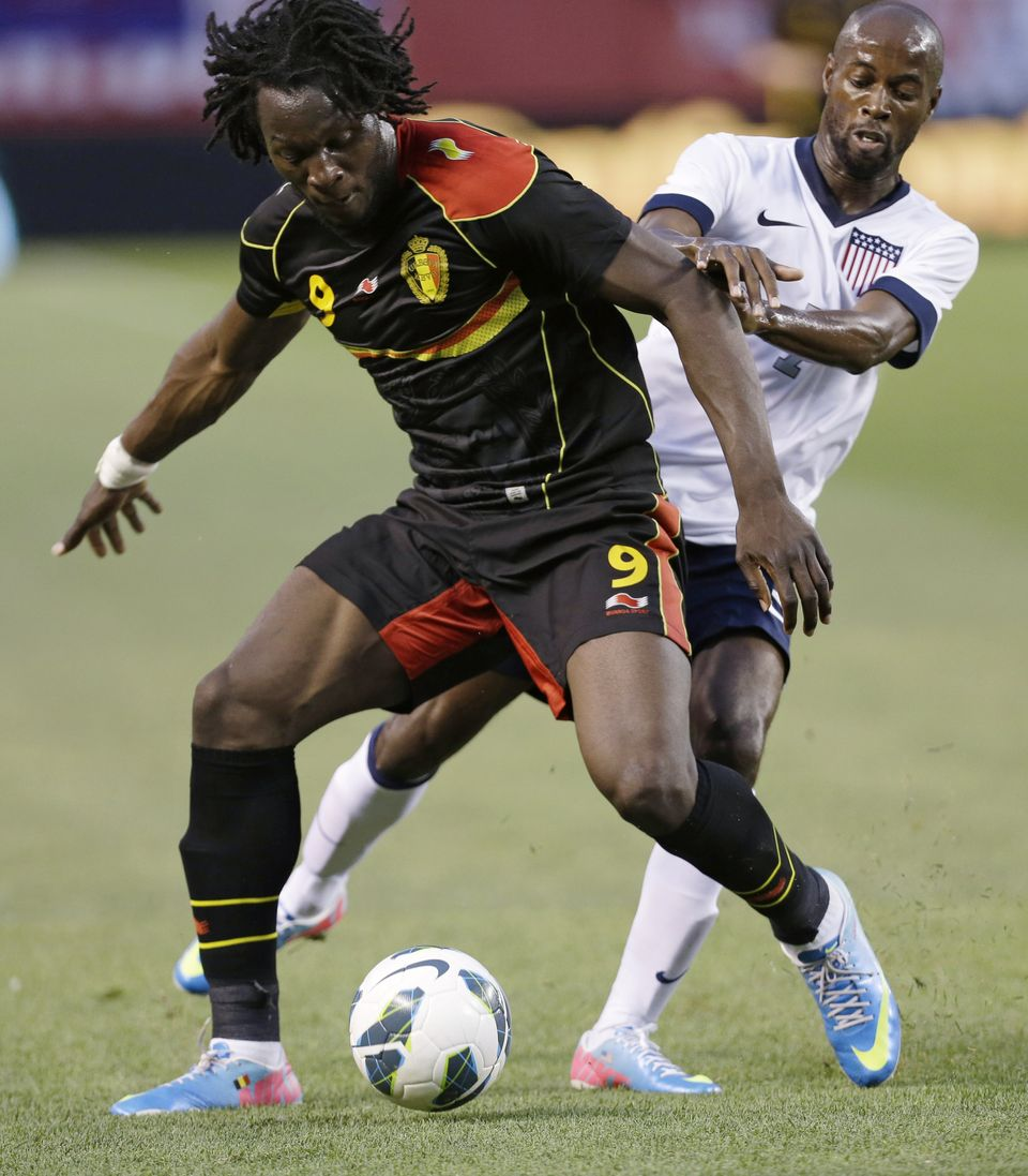 Romelu Lukaku was too much for the United States to handle. (AP Photo/Tony Dejak)