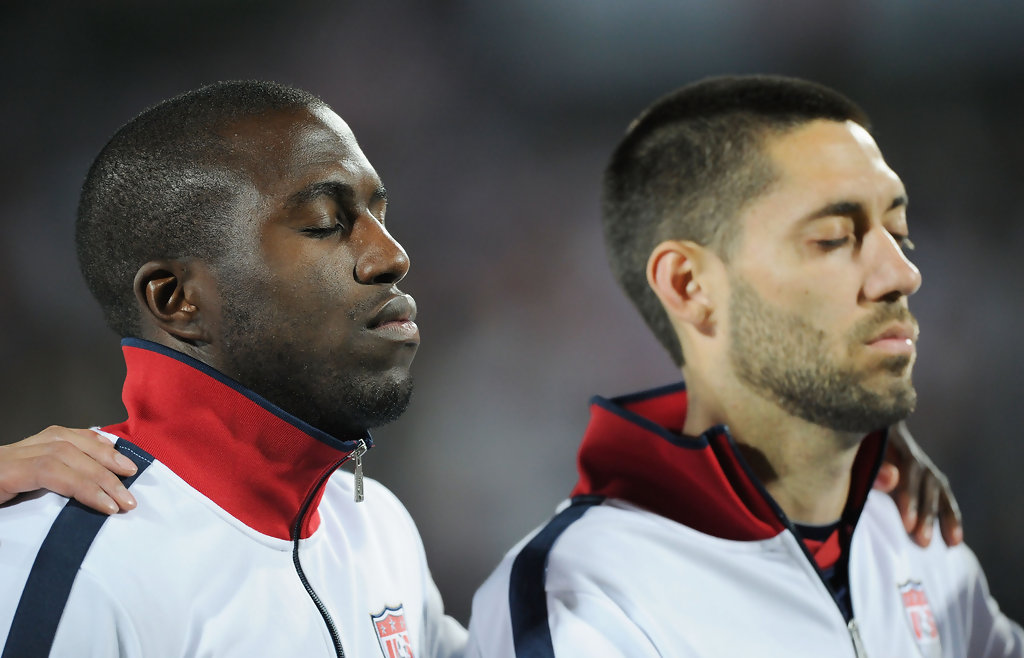 Jozy Altidore and Clint Dempsey. (Source: Kevork Djansezian/Getty Images Europe)