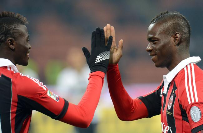 M'Baye Niang (left) and Mario Balotelli (right). (Photo: Icon Sport)
