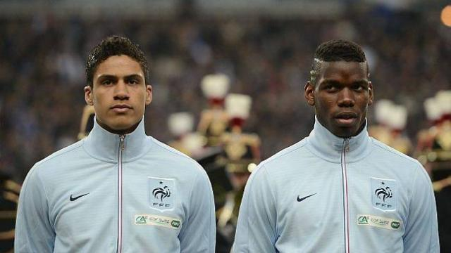 Raphaël Varane and Paul Pogba. (Photo: AFP)