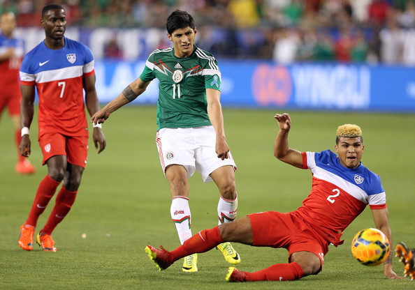 Maurice Edu (7) and DeAndre Yedlin (2) made strong cased for themselves against Mexico. (Photo: Christian Petersen/Getty Images North America)